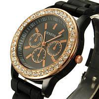 Часы женские Geneva Crysta черный реплика, фото 1
