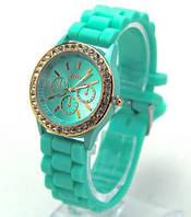Часы женские Geneva Crystal бирбза реплика, фото 1
