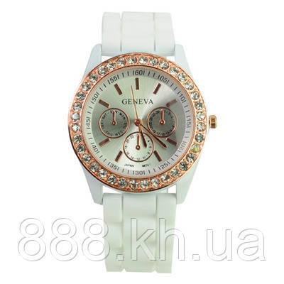 Часы женские Geneva Crystal белый реплика