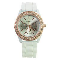 Часы женские Geneva Crystal белый реплика, фото 1