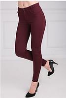 Бордовые стрейчевые брюки
