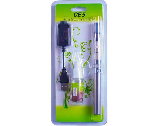 Электронная сигарета CE-5 + жидкость (блистерная упаковка) №609-30 silver, фото 2