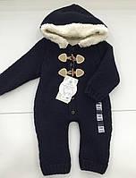 Детский теплый комбинезон на меху  на 6 -  12 месяцев