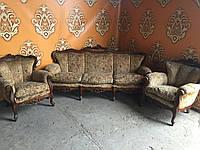 Комплект мягкой  мебели в стиле барокко  3+1+1