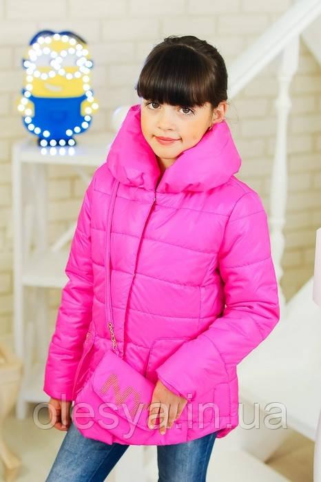 Куртка весенняя для девочки Модница, размер 32 цвет розовый