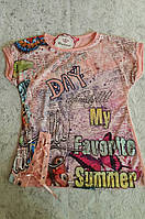 Стильная футболка на девочку 164 роста Favorite