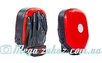 Лапа боксерская прямая Elast 0115, кожа: 27х21х5см