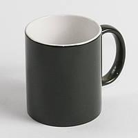 Чашка хамелеон черная. Чашка магическа