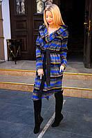 Кашемировое женское пальто на запах, с капюшоном