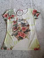 Красивая футболка для девочек 110,116,122,128 роста Мальвы