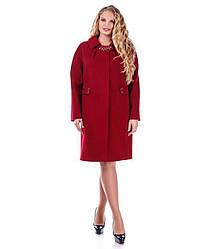 Пальто женское Almatti модель Vv-98-17 красно-черное