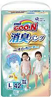 Трусики-подгузники GOO.N серии AROMAGIC DEO PANTS для детей весом 9-14 кг (размер L, унисекс, 42 шт) (853111)