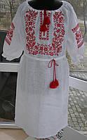 Вышитое платье с  рукавом 3/4, Дивограй