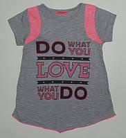 """Детская одежда оптом.Футболка для девочек """"LOVE"""" рост 104,110,116,122,128 см"""