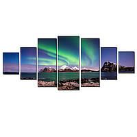 Модульные Светящиеся картины Startonight Явления в Небе, 7 частей