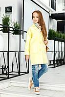 Желтое детское кашемировое пальто с карманами. Арт-2050/22
