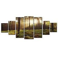 Модульные Светящиеся картины Startonight Утро в Лесу, 7 частей