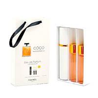 Подарочный парфюмерный набор для женщин Chanel Coco Mademoiselle 3х15 ml DIZ