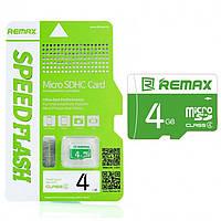 Карта памяти microSDHC 4Gb Remax (Class 4)