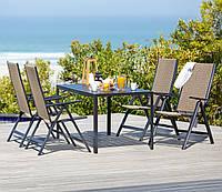 Комплект мебели садовой из  (4 кресла раскладной  и столик 140 см)