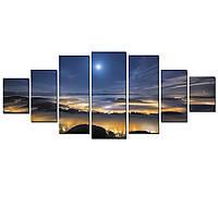 Модульные Светящиеся картины Startonight Туман над Городом, 7 частей
