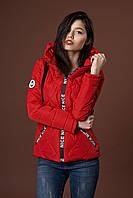 Женская молодежная демисезонная куртка. Код модели К-96-37-17. Цвет красный.