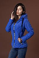 Женская молодежная демисезонная куртка. Код модели К-96-37-17. Цвет электрик.
