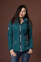 Женская молодежная демисезонная куртка. Код модели К-96-37-17. Цвет изумрудный.