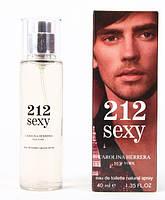 Мужская туалетная вода 212 Sexy Men Carolina Herrera Tester 40ml ОАЭ (освежающий, восточный аромат) DIZ /00-03