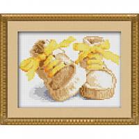 Рисование камнями на холсте Dream Art Первые шаги - желтый (полная зашивка, квадратные камни) (DA-30018) 17 х