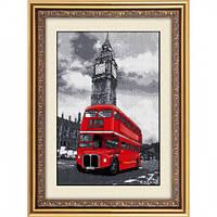 Алмазная живопись Dream Art Лондонский автобус (полная зашивка, квадратные камни) (DA-30024) 25 х 39 см
