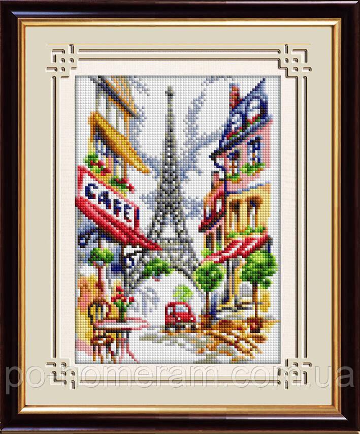 Алмазная мозаика Dream Art Парижское кафе (полная зашивка, квадратные камни) (DA-30063) 20 х 30 см (Без подрамника)