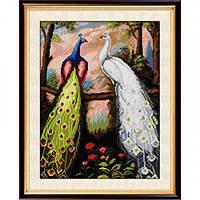 Алмазная мозаика Dream Art Дружба павлинов (полная зашивка, квадратные камни) (DA-30073) 37,5 х 52 см