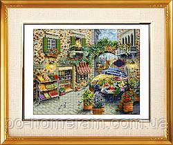 Алмазная вышивка Dream Art Уличное кафе (полная зашивка, квадратные камни) (DA-30092) 38 х 46 см