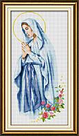 Рисование камнями на холсте Dream Art Мадонна молится (полная зашивка, квадратные камни) (DA-30114) 33 х 69 см