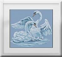 Набор алмазная живопись Dream Art Лебединая верность (полная зашивка, квадратные камни) (DA-30126) 42 х 47 см