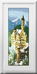 Алмазная вышивка Dream Art Замок Нойшванштайн (полная зашивка, квадратные камни) (DA-30128) 15 х 42 см