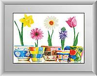 Алмазная вышивка Dream Art Прекрасные весенние цветы (частичная зашивка, квадратные камни) (DA-30150) 68 х 48 см