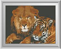 Вышивание камнями Dream Art Опасные кошки (полная зашивка, квадратные камни) (DA-30171) 34 х 45 см