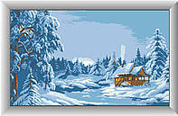 Алмазная вышивка Dream Art Коттедж у пруда (полная зашивка, квадратные камни) (DA-30200) 35 х 63 см