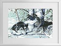 Набор алмазная живопись Dream Art Пара волков (полная зашивка, квадратные камни) (DA-30201) 48 х 66 см