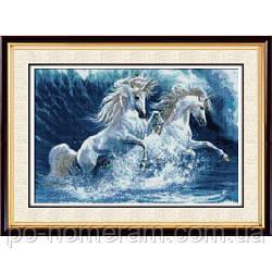 Картина алмазная вышивка Dream Art Пара единорогов (полная зашивка, квадратные камни) (DA-30203) 41 х 56 см (Без подрамника)
