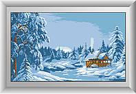 Рисование камнями на холсте Dream Art Зимний лес (полная зашивка, квадратные камни) (DA-30216) 51 х 85 см