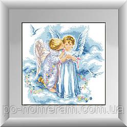 Набор алмазная живопись Dream Art Поцелуй ангелов (полная зашивка, квадратные камни) (DA-30225) 54 х 54 см