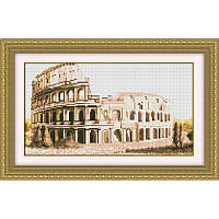 Вышивание камнями Dream Art Колизей (полная зашивка, квадратные камни) (DA-30240) 24 х 41 см