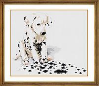 Алмазная вышивка Dream Art Апчхи (далматинец) (полная зашивка, квадратные камни) (DA-30251) 32 х 38 см