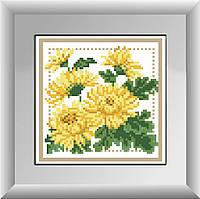 Алмазная вышивка Dream Art Букетик с желтыми астрами (без коробки,квадрат.камни) (DA-30255M) 17х17см