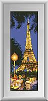 Рисование камнями на холсте Dream Art Эйфилева башня (полная зашивка, квадратные камни) (DA-30265) 15 х 42 см