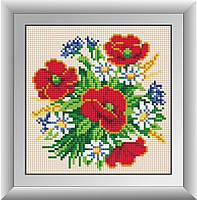 Алмазная вышивка Dream Art Маковый букет (полная зашивка, квадратные камни) (DA-30282) 18 х 18 см