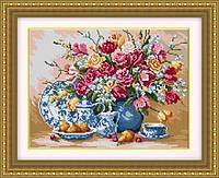 Алмазная вышивка Dream Art Букет с розами (полная зашивка, квадратные камни) (DA-30296) 36 х 45 см